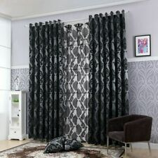 Window Curtain Semi Blackout Short Jacquard Voile Living Room Home Decoration