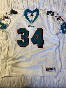 Ricky Williams Miami Dolphins Nike Jersey SZ 56 XXXL Authentic Stitched White