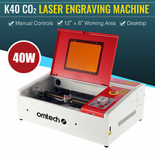 Omtech Co2 Manual Laser Engraver Cutter Engraving Cutting Carving 12x 8 40w