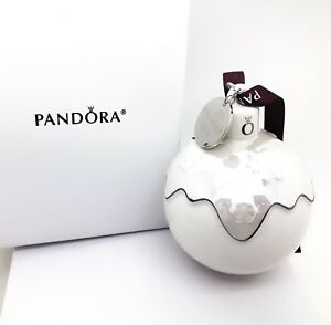 NEW PANDORA Limited 2018 Christmas Holiday Porcelain Ornament W/ Gift Box