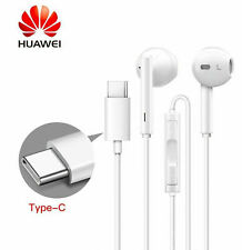 WHITE TYPE C IN-EAR HEADPHONES HANDSFREE HEADSET WITH VOLUME CONTROL MUSIC SET