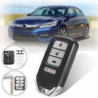 Smart Remote Entry Key Case Shell FOB For Honda Accord Civic CRV CRZ HRV