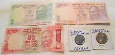 Gandhi Dandi March Return SA Coin & 5 10 20 Rupees Note Crisp UNC 5 items