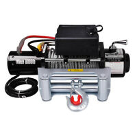 8000lbs Electric Recovery Winch 12V 5.5HP Towing Mount For ATV SUV Truck Trailer