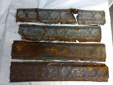 Antique Ceiling Tin Vintage Reclaimed Salvage Art Craft trim edge part