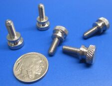 """Flared Shoulder Stainless Thumb Screw, 29/64"""" Dia,  10-32 x 1/2"""" Length, 5 Pcs"""