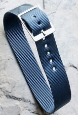 Stunning petrel color 1-pc nylon 18mm old watch strap for fixed lugs/spring bars
