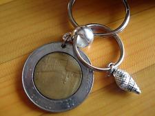 Italy 500 lire coin    handmade coin keyring
