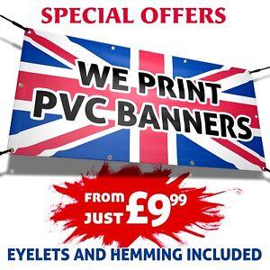 PVC BANNER Outdoor Vinyl Banner Advertising Sign Display Printed Heavy Duty PVC