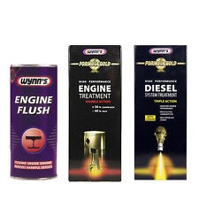 WYNNS 3Pack ENGINE FLUSH + GOLD FORMULA OIL ADDITIVE + DIESEL FUEL TREATMENT SET