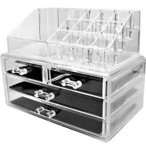 Organizzatore Per Cosmetici Con Cassetti Make Up Accessori Bagno Trasparente