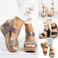 Women's Wedge Heels Sandals Ladies Summer Platform Sandals Open Toe Chunky Shoes