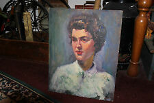 Vintage Rubinfeld Portrait Of Beautiful Woman W/White Shirt-Religious Woman