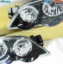 Ford Falcon BA BF '03-'08 XR6 XR8 FPV HeadLights BLACK PAIR ADR LH+RH Head Lamps