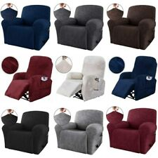 4 Pcs Stretch Recliner Slipcover Furniture Chair Sofa Couch Cover for Kids Pets