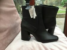 George Fabulous Ladies Black Leather Ankle Boot Size 8