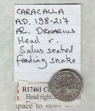 More details for roman empire caracalla 198-217 ad silver denaruis in near very fine condition