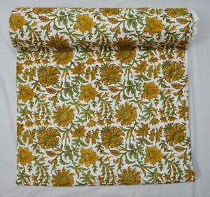 New Indian Cotton Handmade Bedspread Blanket Bedding Kantha Quilt Floral Print