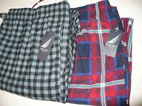 NEW NWT NAUTICA MEN'S FLEECE PAJAMA LOUNGE SLEEP PANTS SZ SIZE L XL 36 38 40 42