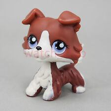 Littlest Pet Shop Collection Collie Dog Puppy Brown White Puzzle Rare Cute Loose