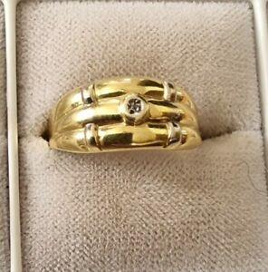GOLDRING 585er mit Diamant   60  anschauen!