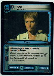 STAR TREK CCG 2E DANGEROUS MISSIONS, FOIL CARD 9R16 T'POL. NON BELIEVER