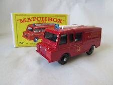 1967 Matchbox Lesney Land Rover Kent Fire Brigade Truck #57 NMIB