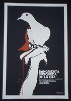 KILLER'S MISSION Cuban Silkscreen Poster for Samurai Spy Movie / CUBA JAPAN ART