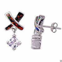 USA Seller Black Opal Stud Earrings Sterling Silver 925 Best Price Jewelry Gift