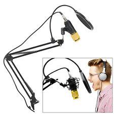 BM-800 Kondensator Mikrofon Mikrofonarm Studio Aufnahme Kit Komplett Set  DE