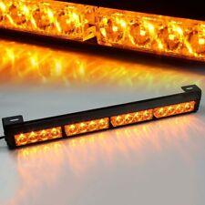 "16 LED 18"" Amber Yellow Emergency Traffic Advisor Flash Strobe Light Bar Warning"