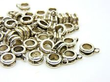 50 x Tibetan Silver Barrel Bails Fit European Bracelets Jewellery Beads P177