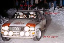 Michele Mouton Audi Quattro A1 Monte Carlo Rally 1983 Photograph 1