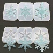 Christmas Silicone Mold DIY Snowflake Epoxy Resin Molds Silica Jewelry Crafts