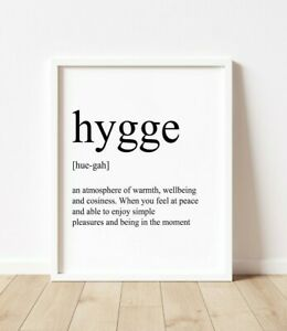 Hygge Definition Print   Poster   Danish   Wall Art   Gift Home   Picture  Quote