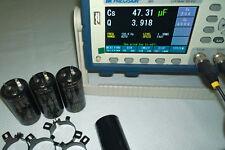 Lot of 4 Genuine Elna Cerafine 500V 47uF + 47uF Capacitors same Black Gate WKZ