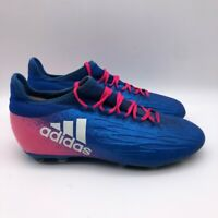 Adidas Mens X 16.1 FG Soccer Cleats Blue BB5692 Lace Up Low Top 4 M