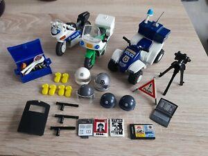 Playmobil Polizei Zubehör Quad Motorräder Funkgerät usw