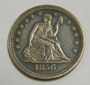 1856 - Silver Seated Liberty Quarter - 25¢
