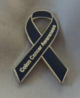 **NEW** Colon / Bowel Cancer Awareness ribbon enamel badge / brooch.Charity.