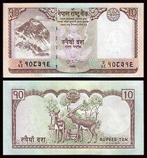 Nepal  10 Rupees  2008-2010  Pick 61b  SC = UNC
