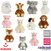 Aurora Cuddly Friends ALL SIZES PLUSH Cuddly Soft Toy Teddy Kids Gift Brand New