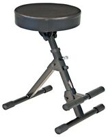 Tour Tough Guitar Throne - Adjustable Foot Rest - Padded Stool Black - NEW!