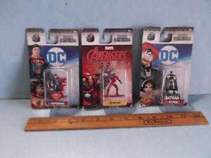"3 Nano Metalfigs Ironman, Superman, Batman 2""in Figures or Cake Toppers"