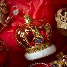 Glass Crown Bauble Christmas Tree Decoration Gisela Graham