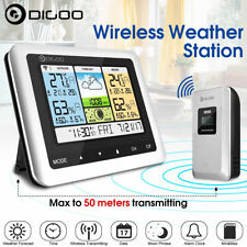 Wireless Weather Station Home Thermometer USB Outdoor Forecast Sensor Clock Wind