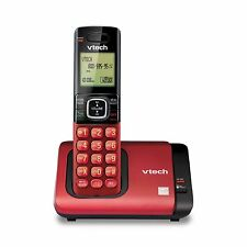 Vtech Dect 6.0 Expandable Cordless Phone with Caller Id/Call Waiting, Red wi