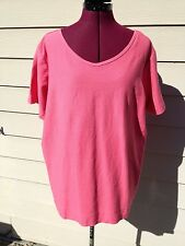 Columbia Women's Plus 1X - Pink NWT Knit Top - Short Sleeve - Relaxed Fit