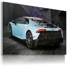 LAMBORGHINI HURACAN WHITE BLUE Sport Cars Large Wall Art Canvas  AU233 MATAGA