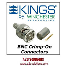 BAG-50  Kings 2065-2-9 75 Ohm BNC Connectors  Belden 1505A 1506A & Gepco VPM2000